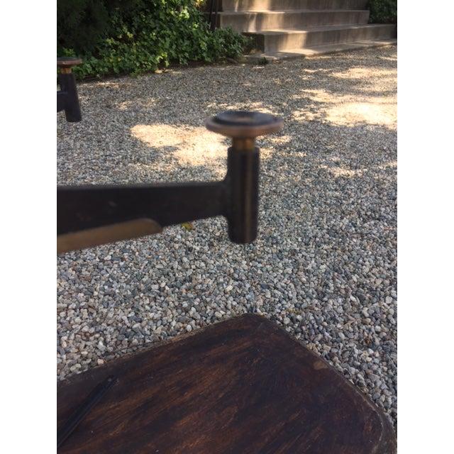 Vintage Mid-Century Modern Steel Based Walnut Coffee Table - Image 8 of 9