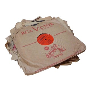 Antique Records in Paper Sleeves - Set of 9