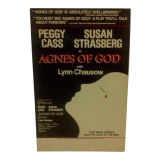 "Vintage Broadway Show Poster ""Agnes of God"" Peggy Cass & Susan Strasberg"