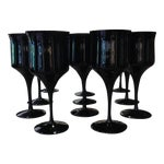 Image of Onyx Stem Goblets - Set of 11