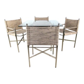 Vintage Modern Dinette Table with Dining Chairs - Set of 5