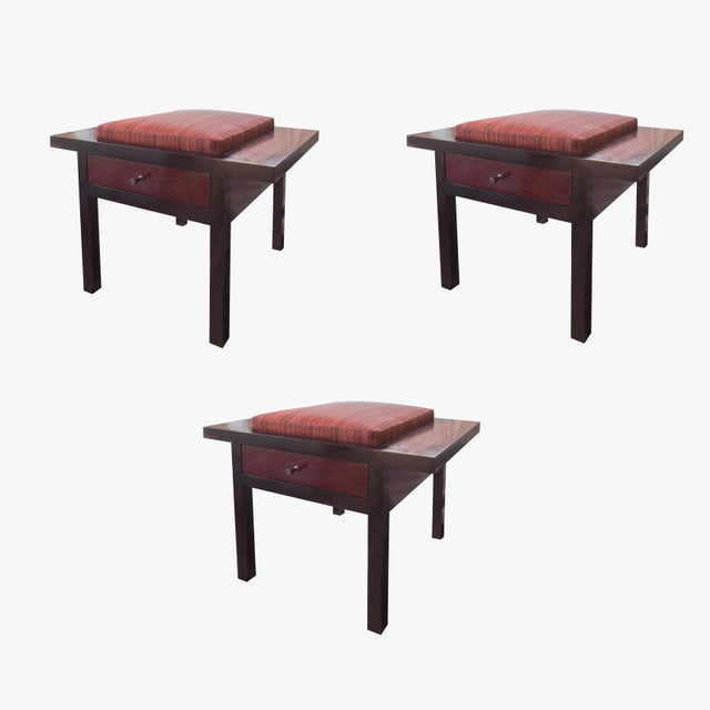 Holly Hunt African Mahogany Storage Stool - Image 2 of 5