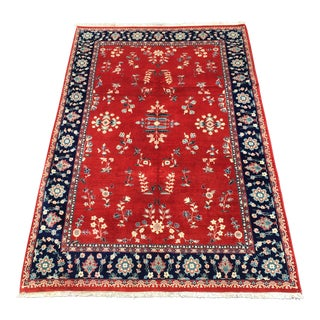 """Handknotted Sarouk Area Persian Rug - 6'2"""" x 9'10"""""""