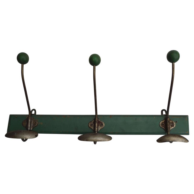 Green French Demilune Coat Rack - Image 1 of 4