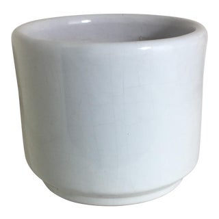 Vintage Small White Gloss Gainey Style Planter