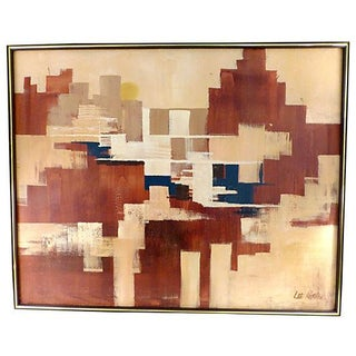 Mid-Century Abstract by L. Reynolds