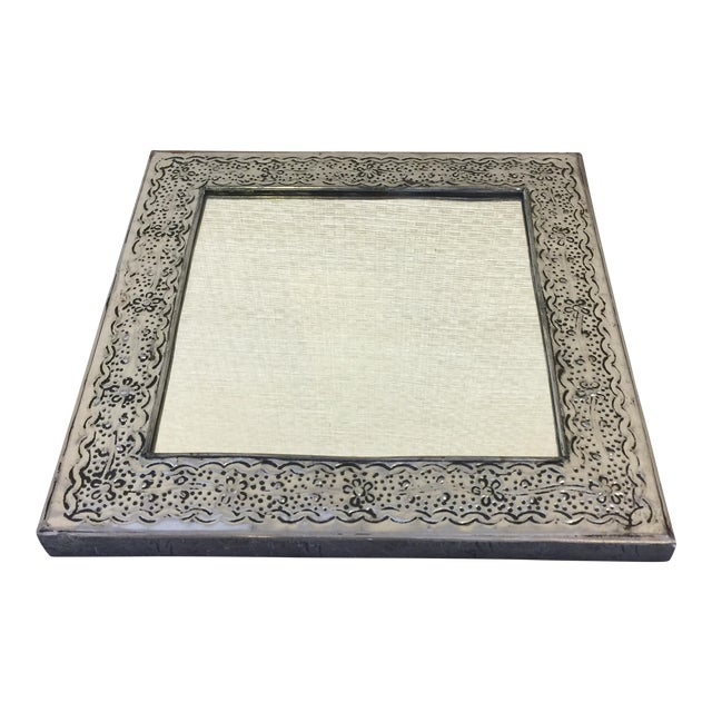 Square Mexican Punched Tin Mirror Chairish