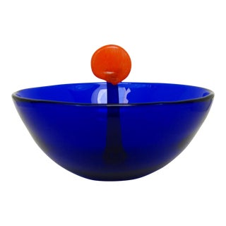 Vintage Cobalt Glass Bowl