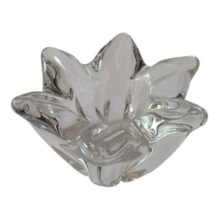 Vintage Baccarat Crystal Flower Decorative Ashtray