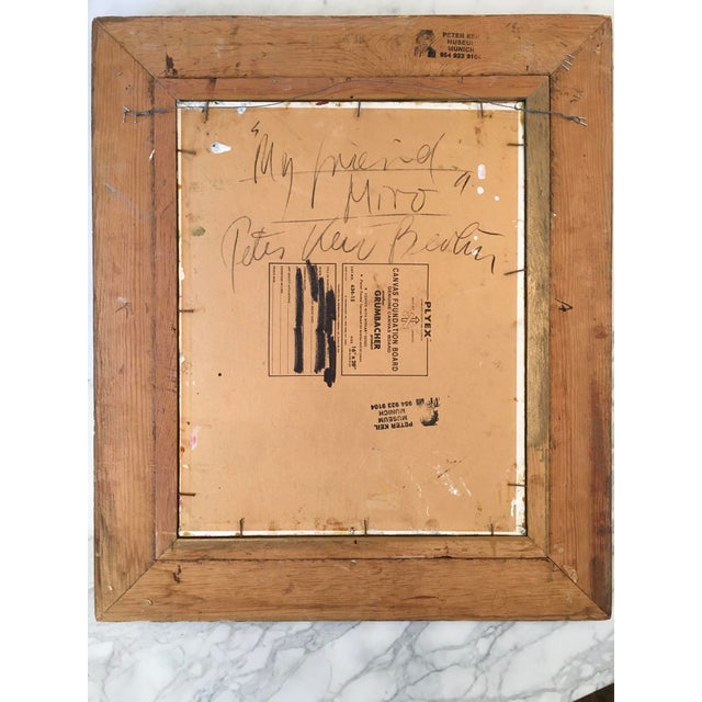 'My Friend Miro' Painting - Image 8 of 11