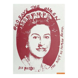 "Jamie Reid ""God Save The Queen"" Print"