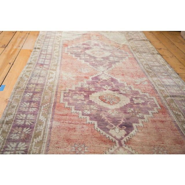 "Distressed Oushak Runner - 4'4"" x 11'9"" - Image 2 of 8"