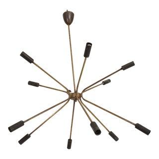 Mid Century Italian Modern Sputnik Chandelier