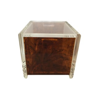 Lucite & Faux Tortoise Shell Ice Bucket