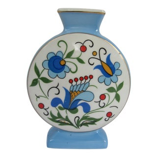 Vintage Lubiana Vase with Flowers
