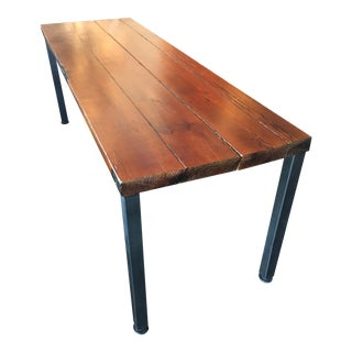 Weighty Plank Table