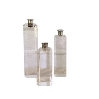 Graduated Ritts Astrolite Lucite Candle Holders - Set of 3