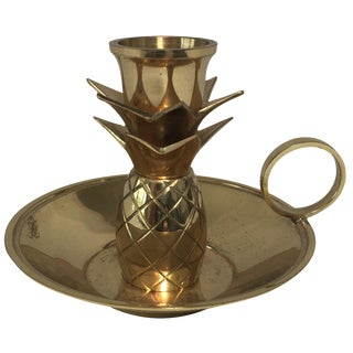 Brass Pineapple Candleholder