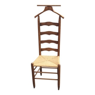 Vintage Rush Wood Ladder Back Valet Chair