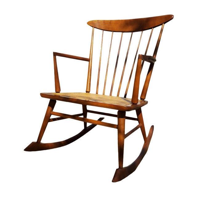 Mid-Century Modern Spindle Rocking Chair - Image 1 of 11