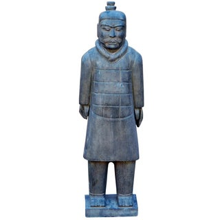 Chinese Stone Ancient Soldier Warrior Figure