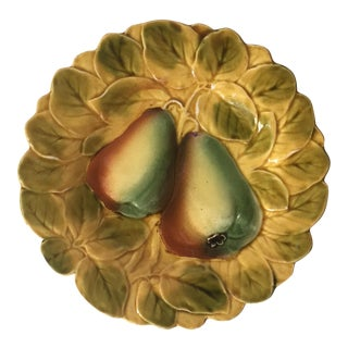 French Majolica Sarreguemines Fruit Plate