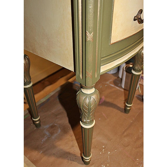 Vintage 1920s Mahogany Painted End Table - Image 8 of 10