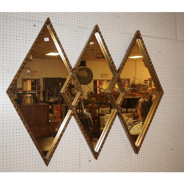 Art Deco Diamond Wall Mirror - Image 2 of 5