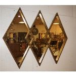 Image of Art Deco Diamond Wall Mirror