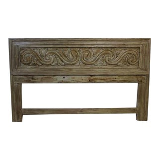 Carved Wooden Headboard