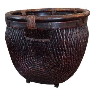 Vintage Rattan and Wicker Oversized Basket