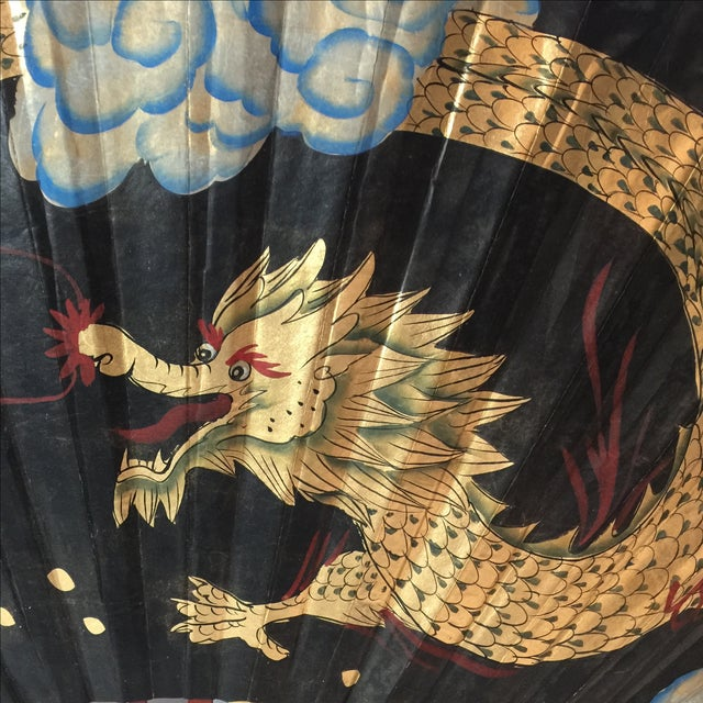 Decorative Chinese Dragon Fan - Image 4 of 8