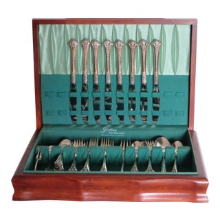 Gorham Sterling 48 Pieces in a Box, Set for Eight, Classic Bouquet Pattern 1972
