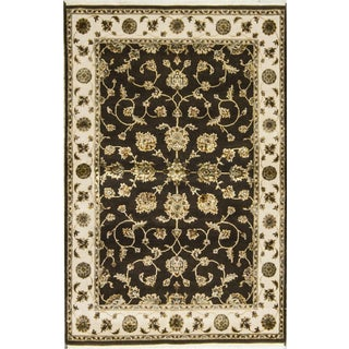 Traditional Wool & Silk Hand Woven Rug - 4' x 6'1""
