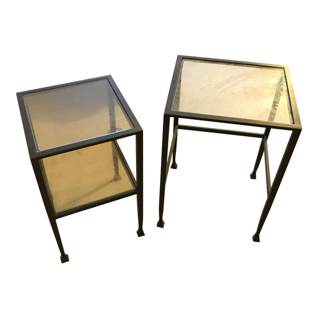 Pottery barn tanner nesting side tables a pair chairish