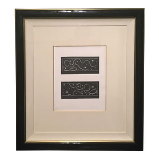 Linocuts from Pasiphae by Henri Matisse - A Pair