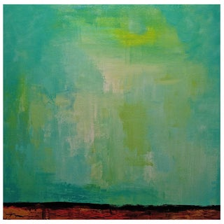 Original Contemporary Abstract Green Painting