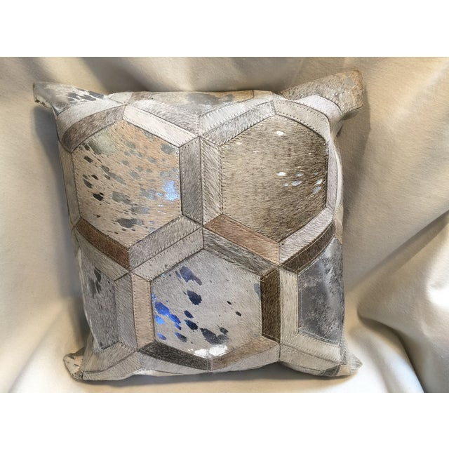 Modern Cowhide Pillow Chairish