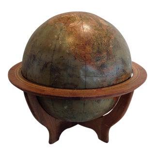 "Vintage 1940s Rand McNally 16"" World Globe"