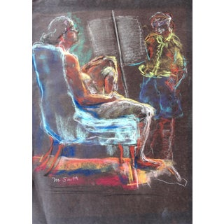 Marion Smith Mid-Century Pastel Nude Drawing