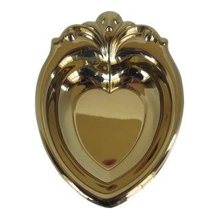 Vintage Brass Heart Bowl