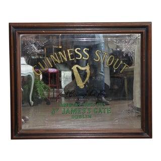 Framed Guiness Mirror Sign
