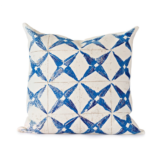 Blue Star Throw Pillow - Image 1 of 4