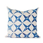 Image of Blue Star Throw Pillow