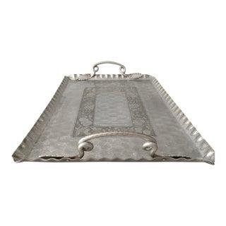 Vintage Ornamental Aluminum Tray
