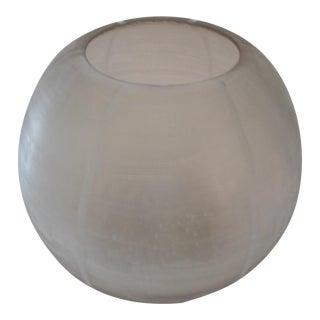 Donna Karan Glass Etched Bowl