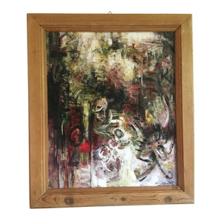 Modern Abstract Painting Signed