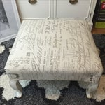 Image of Upholstered French-Inspired Ottoman