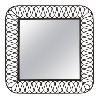 Decorative Black Iron Mirror