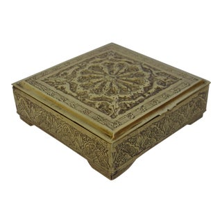 Vintage Solid Brass Trinket Box